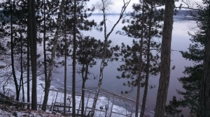 Ice forming on Lac Courte  Oreilles