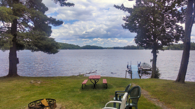 View of Nelson Lake from Deck