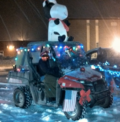 The group of ATVs won Best Christmas Spirit