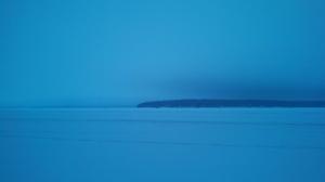 Lac Courte Oreilles. Hazy winter skyline