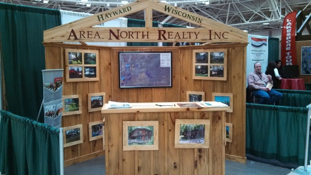 Our Area North Realty booth at the MN Lake Home & Cabin Show